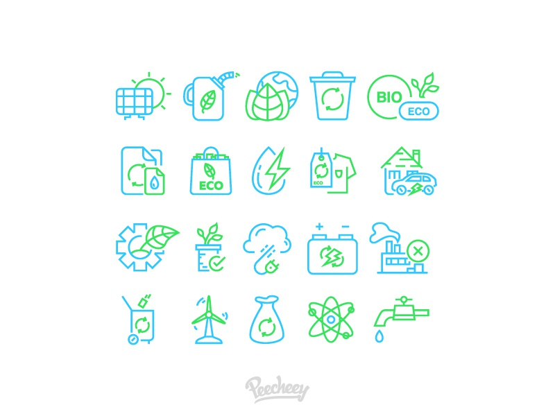 Ecology line icons adobe vector free vector nature icons line ecology