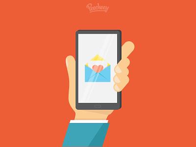 Love Sms adobe illustrator smartphone texting sms love