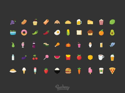 Food and beverages icons icon free vector vector drink food