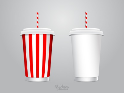 Soft Drink Cups free vector icon drink vector template cup