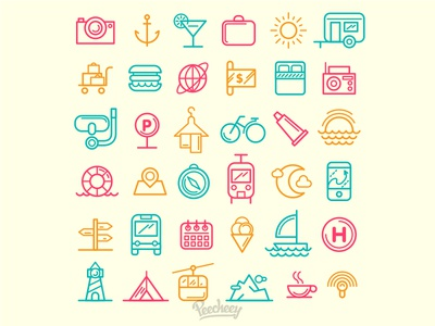 Traveling Icons line design line art adobe vector free icon travel icon