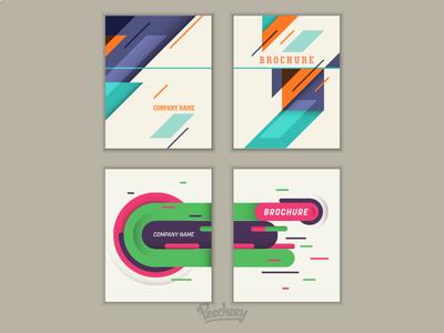 Brochure layout design adobe illustrator free vector design retro template layout