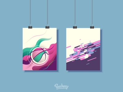 Abstract Backgrounds poster wave abstract background freebie free vector vector