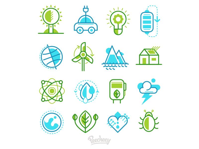 Eco  Icons energy free vector icons ecology eco
