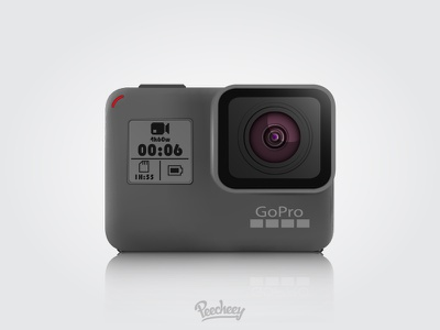 GoPro Hero 5 mockup hero 5 adobe illustrator free vector mockup camera gopro