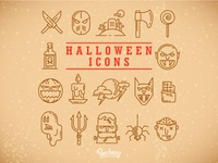 Halloween icons halloween party illustration vector free vector illustrator icon design icons