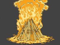 Ski Fire T-Shirt Design