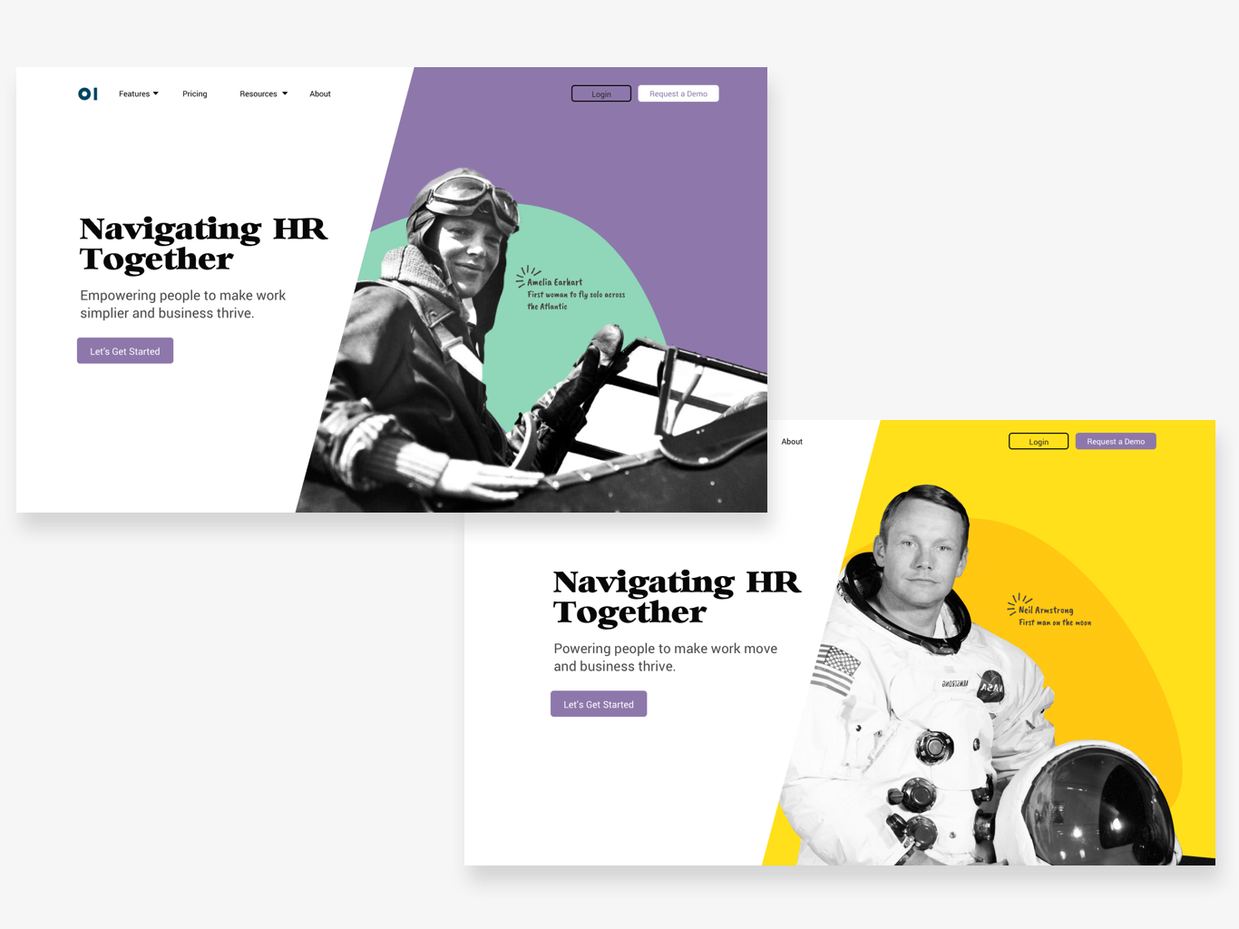 HR Landing page web navigators pilots landing page splash page web design
