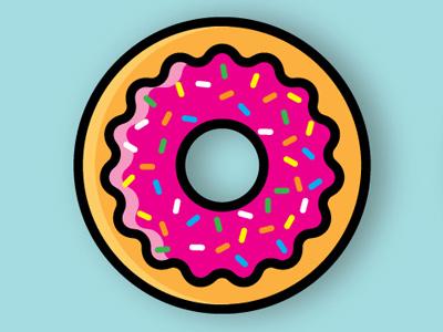 Sprinkle Donut donut illustration