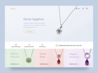 Jewelry Shopify Ecommerce Site UI Concept