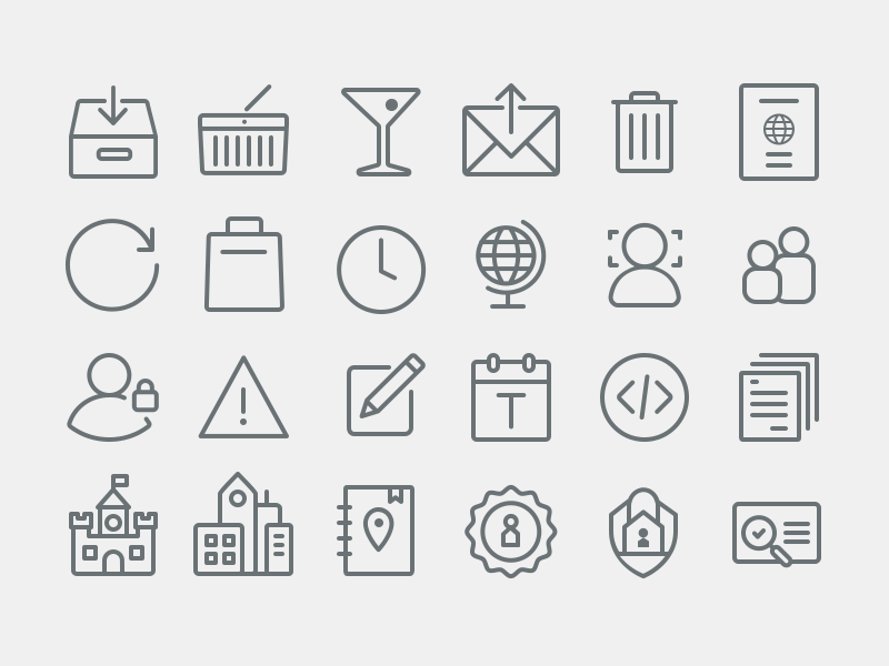 Airbnb Icons Continued By Brandon Lane Dribbble Dribbble