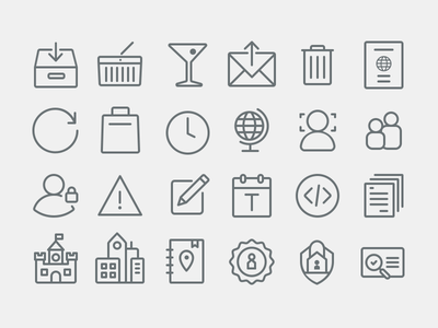 Airbnb Icons - Continued icons iconography travel airbnb glyphs suite web