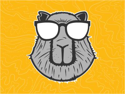 Party Animal vector illustration rat sunglasses party animal capybara