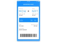 Boarding Pass — Daily UI Challenge #024