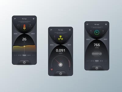 Mobile App for smart house website web design app ux ui mobile