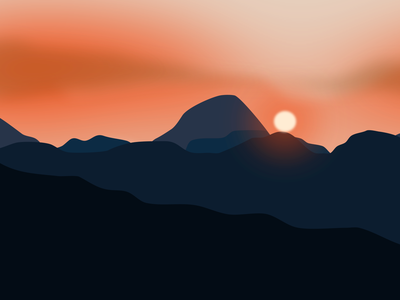 Mountain Subset graphic design icon illustrator vector design illustration