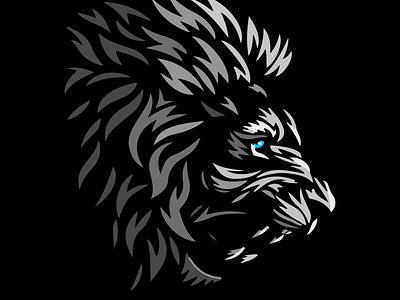 Lion graphic design branding icon logo vector illustrator illustration design