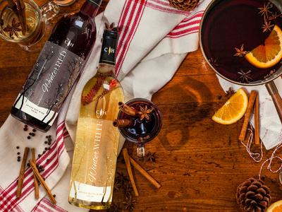 Cooper S Hawk Winter White And Red Wine Design
