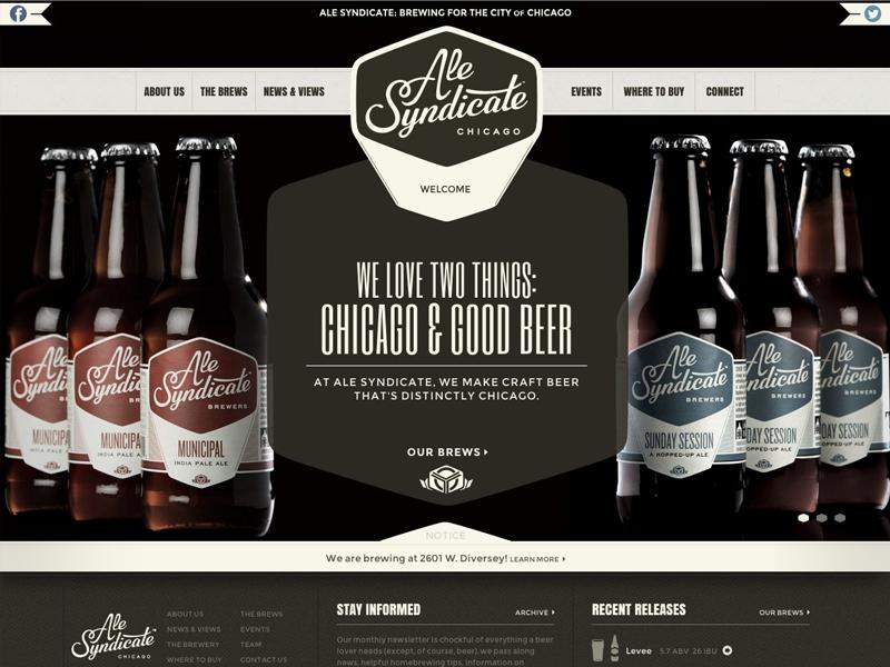 Ale Syndicate Website craft beer website interactive retro