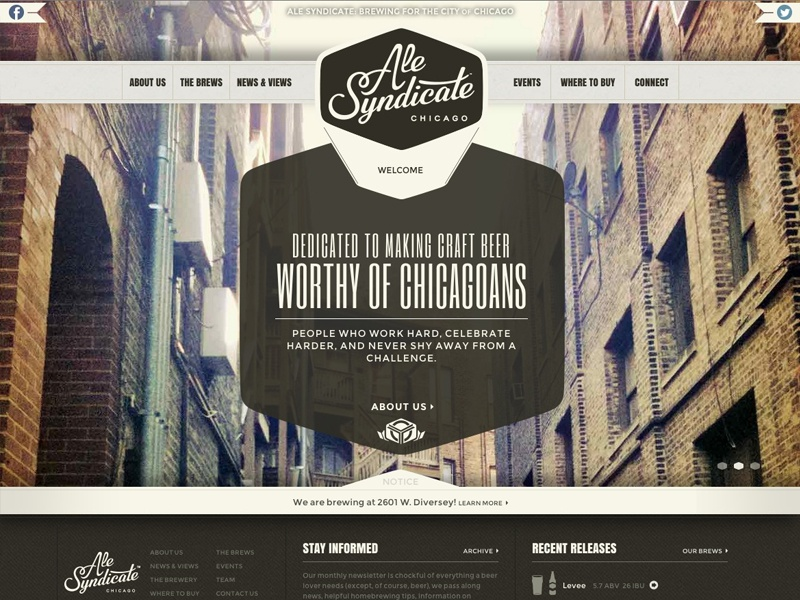 Ale syndicate website 3