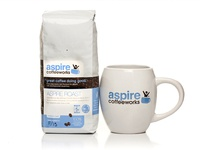 Aspire Coffeeworks Logo and Packaging