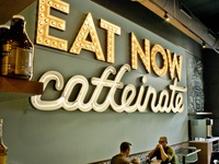Goddess and the Baker: Eat Now Caffeinate Neon