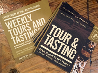 Metropolis Coffee Company Tours & Tastings Flyer