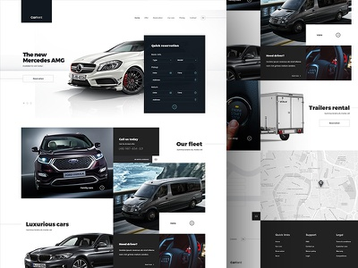 Car Rental website webpage page graphic ui webdesign web grid responsive