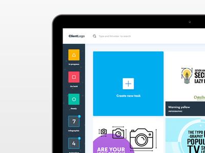 User interface design for contellio.com