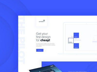 Landing page design for contellio.com