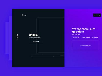 Splash page concept