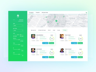 Property Agent search engine UI