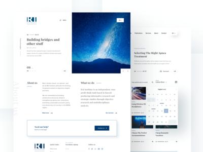 RAI Institute website design