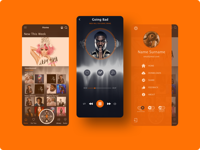 BeatMusic Mobile App music music app entertainment app mobile design mobile mobile app design app ui design