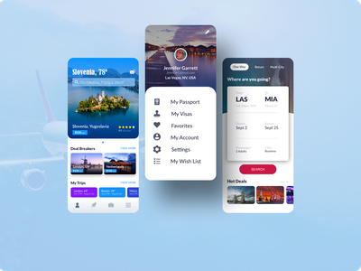 Travel Agent App ui design app design worldwide worldwide traveling visa app passport app booking app buying plane tickets airplane plane ticket mobile app design mobile app traveling app traveling travel app