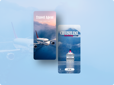 A Splash Screen for a Travel App uiux ui design splash page travel agent travel app splashscreen