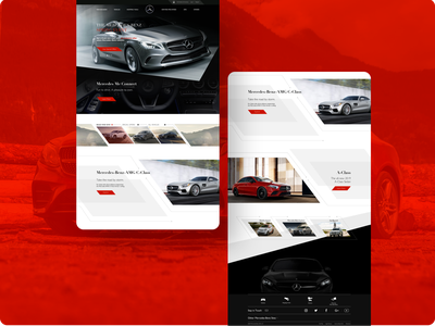 Mercedez-Benz Website & Mobile App automobiles mobile concept website concept website builder website cars mobile app mobile design mobile ui design app design automotive design automotive