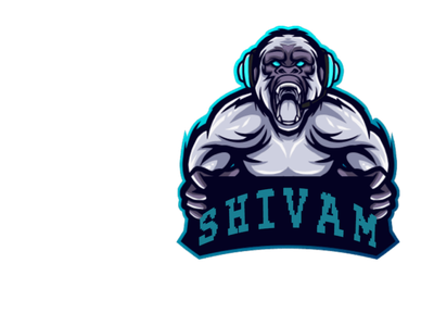 Shivam logo twitch logo mascotlogo mascot illustration logo animation