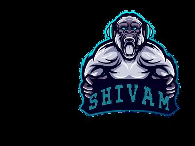 Shivam logo twitch logo mascotlogo mascot illustration logo animation
