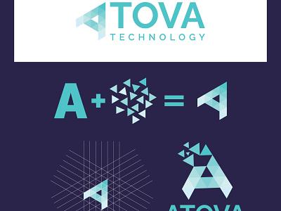 Atova technology Logo ui illustration design brand design logo design branding logo logo branding logodesign graphic design logo design