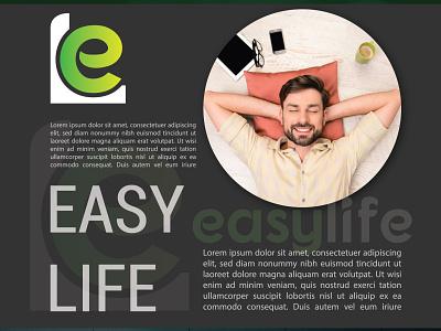 Easy Life Logo + Presentation Design easylife life style logo ui illustration design brand design logo design branding logodesign logo design logo logo branding graphic design