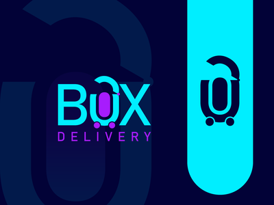 BOX Delivery modern logo colorfull logo square logo ui illustration design brand design logo design branding logo branding logo logodesign graphic design logo design delivery logo box logo