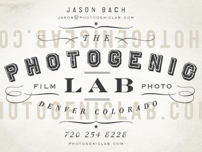 The photogenic lab