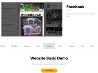 Product features carousel