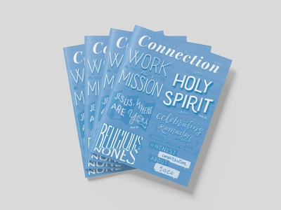 Fall 2020 Alliance Connection Magazine magazine cover magazine alliance type hand lettering typography lettering
