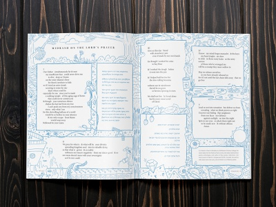 Midrash on Lord's Prayer cmacan alliance poem magazine spread magazine illustration