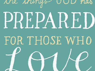 No eye has seen scripture verse handlettering lettering typgography type typeandverse