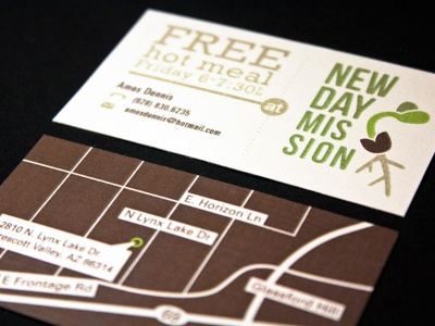 Newday Mission newday mission rockwell bebas neue univers business card