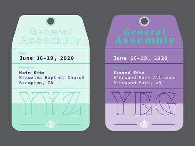 General Assembly Luggage Tag