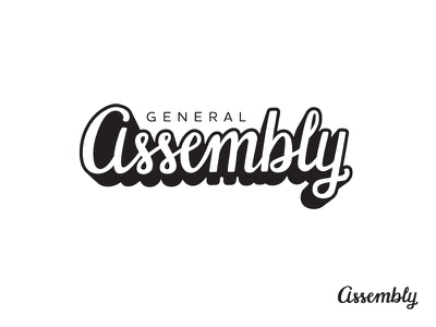 General Assembly concept script lettering logo